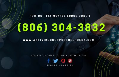 How do I fix McAfee error code 1
